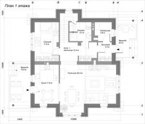 Планировка дома Можжевельник 1 этаж