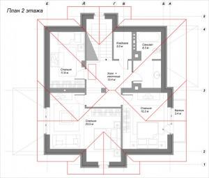 Планировка дома Можжевельник 2 этаж